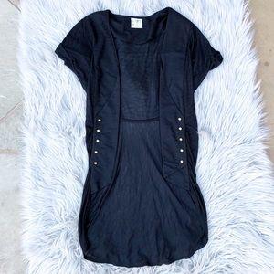 Free People / Short Sleeve Black Cardigan